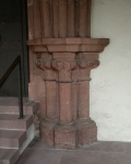 Columns in the porch